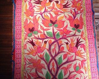 Vintage Embroidered Textile From Laos