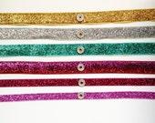 Interchangeable SNAP headband--Glitter