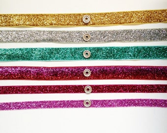 Interchangeable SNAP headband--Glitter