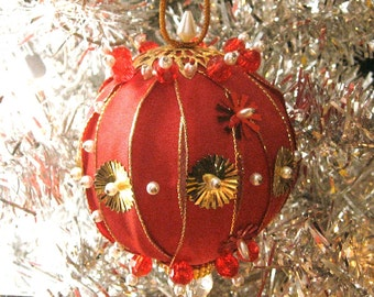 Jeweled Beaded Handmade Christmas Ornament SALE