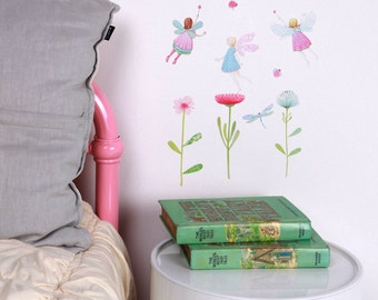 Mini Fabric Wall Decal - Fairy Garden (reusable) NO PVC