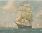 Nautical Vintage SHIP print Old Ironsides