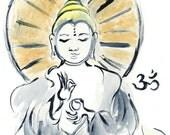 original painting of zen master queer Buddha ~ Joy
