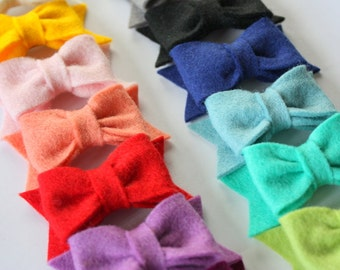 Everyday Felt Bows- You Choose 4 Colors