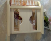 """CUSTOM - 18"""" Unfinished or Primed Magazine Cook Book Literature holder wall mount made in the USA tole painters"""