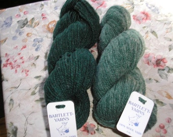 2 Skeins of Bartlett Yarns in  Shades of Green