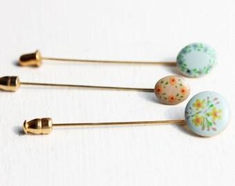Painted Stickpin Set
