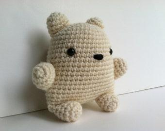Amigurumi Crochet Polar Bear Plush Toy Kawaii Plush Polar Bear Nursery Decor Gift Under 25 Stuffed Animal Polar Bear Plushie Polar Bear Toy