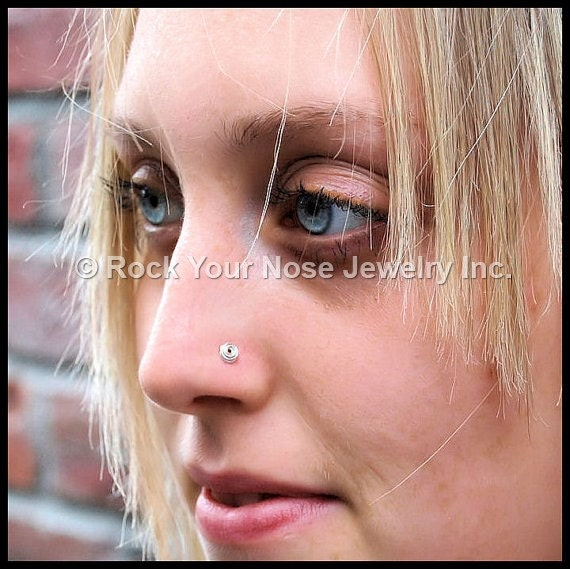 All Tangled Up - Argentium Sterling Silver Nose Stud - Tarnish Resistant - CUSTOMIZE