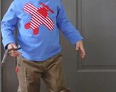 Boy's Airplane Applique T-Shirt