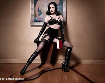 Dark Ladies Wear Arabella Girdlette  .....50's Retro Style 10 or 6 Strap Garter Girdle Suspender Belt