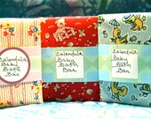REDUCED PRICE!   Unscented Baby Bath Bar with Organic Calendula Petals or Chamomile  Vegan