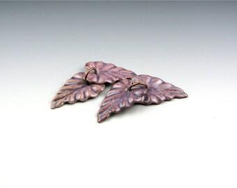Enameled Ivy Leaf / Napa enamel / Made to order
