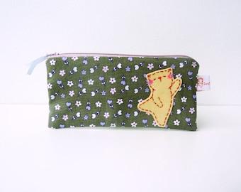 Cute Pencil Case, Pencil Case Cat, Cosmetic Pouch, Pencil Pouch, Clutch, Small Pouch