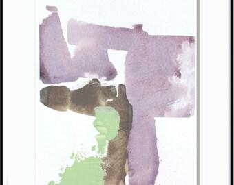 "Pastel Original Abstract Landscape Painting, purple, brown, mint, green, 8 x 10"" original fine art -- ""Painting 660"""