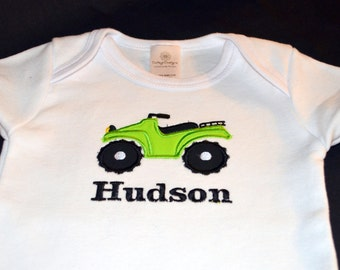 Personalized ATV Fourwheeler Tshirt or Bodysuit - Choose your colors