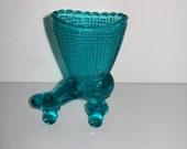 Blue Glass Shoe Roller Skate Vase