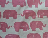 Pink and white elephant fabric from Japan Kokka Half Yard