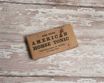 Vintage American Horse Tonic Box with Contents