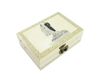 Decoupage Royal Wedding Jewelry Box