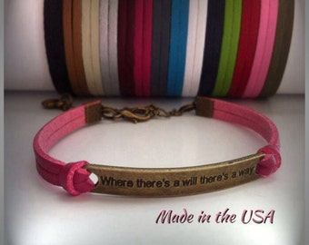 Where there's a will there's a way bracelet, Charm bracelet, Friendship bracelet
