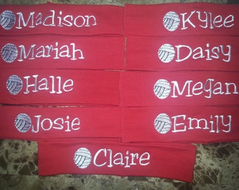 Lot of 9 Custom Personalized Volleyball team sport knit stretch headbands