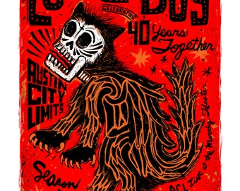 Los Lobos - Austin City Limits Season 40 - April 14, 2014 - Screenprinted Poster