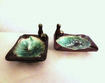 Art Pottery- Vintage ash trays or nut dishes Bowling