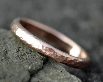 Gold Stacking Ring- Recycled White, Yellow, or Rose Gold in 10k, 14k, or 18k Custom Made Wedding Band