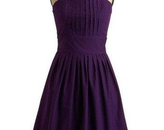 Julie pleaed front  dress