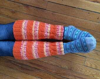Knitting Pattern PDF - Dancing Flame Legwarmers