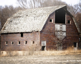 Rustic Barn Photography - Old Barn Print - Iowa Barn - Farm Photography - Country Barn