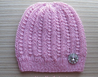 Instant Download Knitting Pattern #160 Hat in a Pretty Ribbing for a Lady