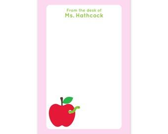 Teacher Apple Notepad - Gifts for teachers - Personalized Teacher gift
