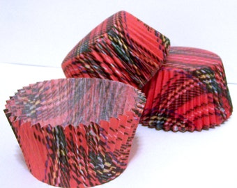 40 Mary Cupcake Liners by Vestli House Plaid
