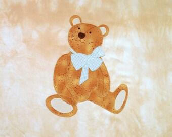 Teddy Bear Boy Appliqued Quilt Block
