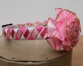 Posh Pink Cat Collar with Detachable Matching Flower