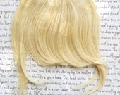 Lace Top fake FRINGE ... 100% Human Hair clip in bang extension in Natural Colors