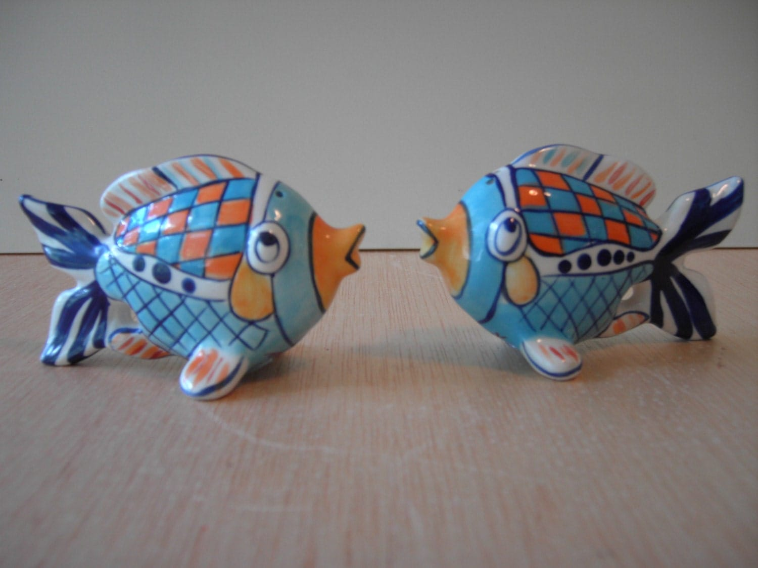 Vintage Fish Salt Pepper Shakers From Blue Sky