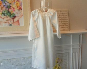 Nightgown White Satin Sizes 8,10 Girls Flannel Back Satin betrueoriginals
