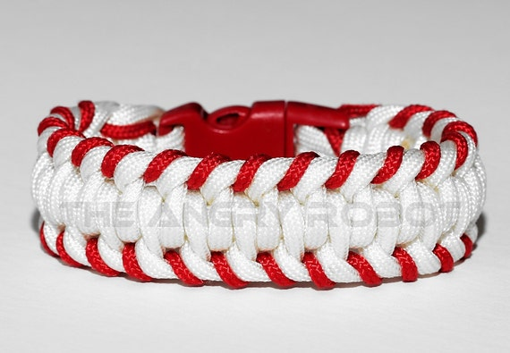 Stitched Paracord Bracelet Baseball Stitched Paracord