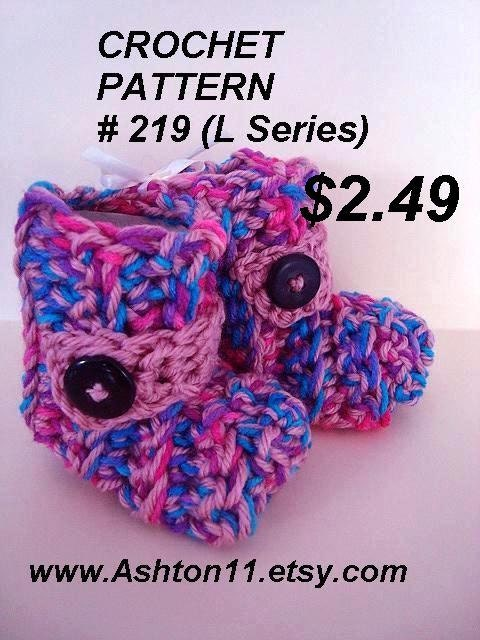 Very Easy Crochet Patterns Baby Booties : Baby Booties Crochet Pattern Easy beginner level Newborn to