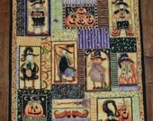 Quilted Halloween Wall Hanging Every Witch Way 21 inches by 22 inches