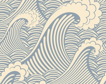 Waves of Chic Removable Wallpaper - 8 Feet