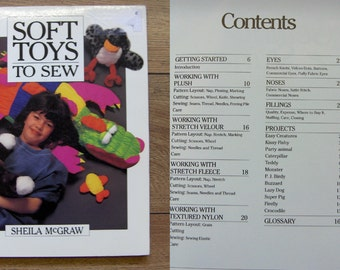 vintage 1992 toys sewing patterns SOFT TOYS To SEW sc boys girls children