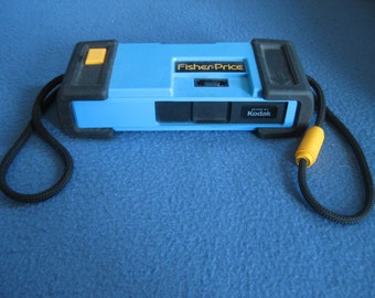 Vintage, Fisher Price, Kodak Film Camera, Black and Blue