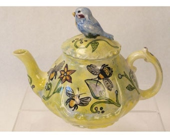 Teapot with Blue Bird