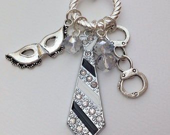 50 shades inspired dangle charm necklace