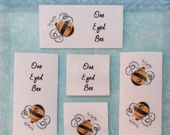 Qty 84 - 3/4  x 1 Inch Cotton Custom Clothing Labels