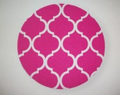 Mouse Pad mousepad / Mat - Rectangle or round - Trellis in pink home office decor coworker gift